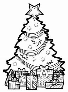 Present Under Christmas Tree Coloring Page Coloring Page ...