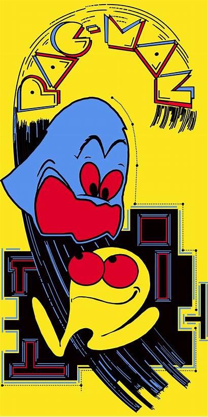 Pac Side Artwork Games Arcade Retro Cartoon