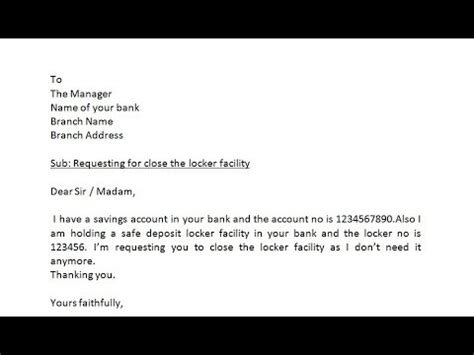 write  letter  bank manager  request  atm card