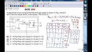 Gate 2000 Ece Sequential Circuit Using D Flip Flop And