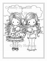Coloring Twins Twin Printable Molly Harrison Adults Fairy Getdrawings Fantasy Adult Whimsical Getcolorings sketch template