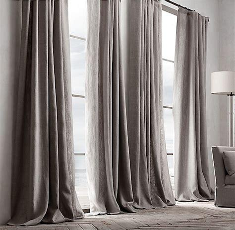 restoration hardware curtains belgian textured linen drapery remodelista