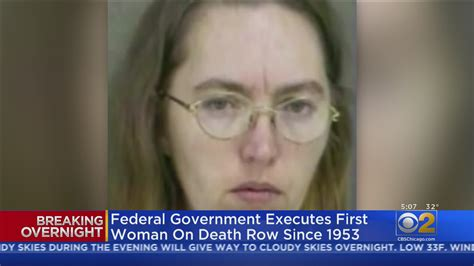 Federal Government Executes First Woman On Death Row Since ...