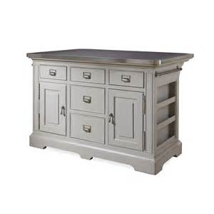 stainless top kitchen island paula deen home dogwood kitchen island with stainless steel counter top reviews wayfair