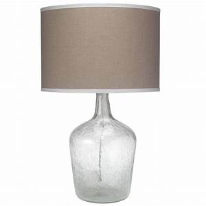 Plum jar table lamp clear seeded glass by jamie young for Glass jar floor lamp
