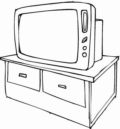 Coloring Tv Television Pages Household