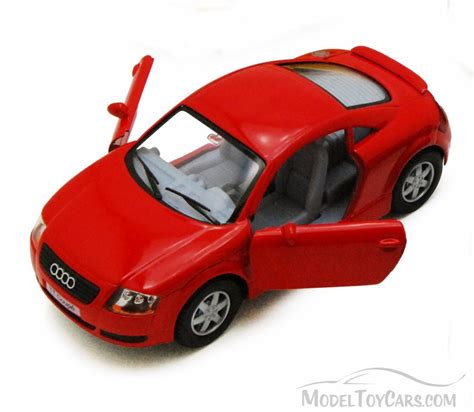 car toy audi tt coupe red kinsmart 5016d 1 32 scale diecast