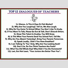 Teachers To Students Top 10 Quotes Heard In Classrooms  10 Hot