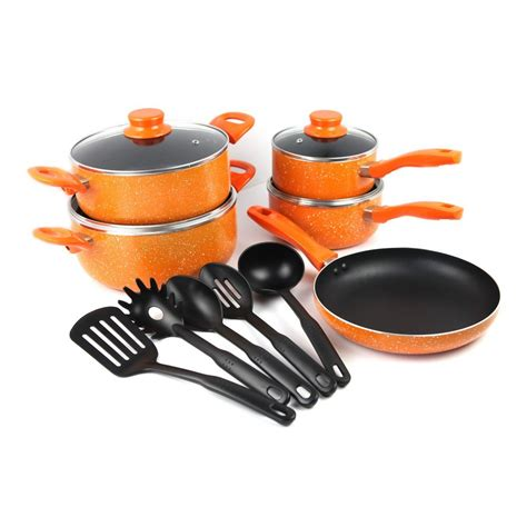 pcs stylish press aluminum  stick cookware set  kitchen tools