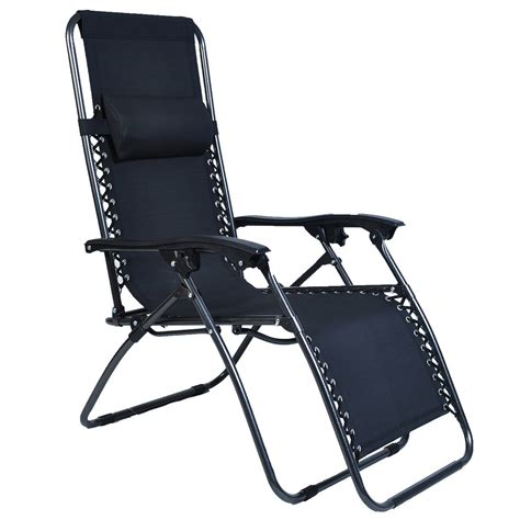 zero folding patio outdoor lounge gravity chair recliner
