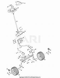Mtd 14aq94gk897  2010  Parts Diagram For Steering Assembly
