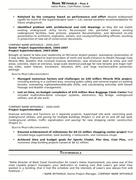 construction experience resumes construction superintendent resume jvwithmenow com