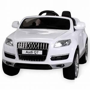 Voiture Electrique Bebe Audi : audi q7 blanc m tallis e 1 place voiture lectrique ~ Dallasstarsshop.com Idées de Décoration