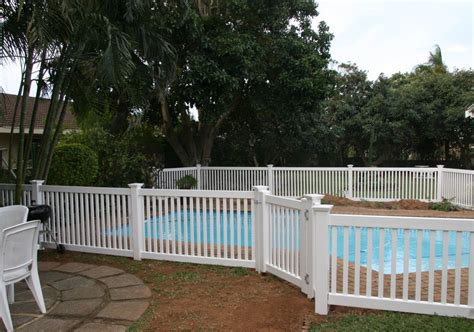 white wood fence panels swimming pool fence ideas