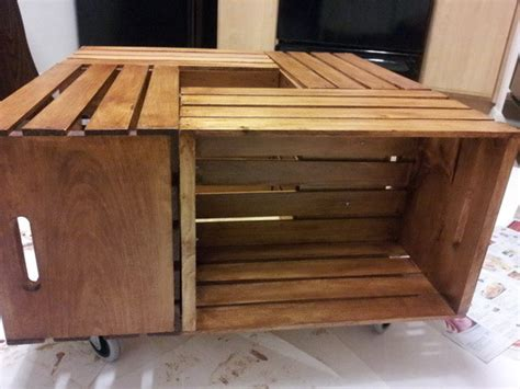 They also bring vintage charm to a living room and you can simple use a quartet of castors to give your coffee table mobility. How To Make A Coffee Table Out Of Old Wine Crates Easy DIY Project