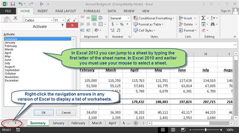 how to show missing worksheet tabs in excel 2013 solve what to do when worksheet tabs go missing accountingweb