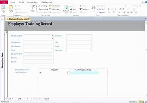 10 training database template excel exceltemplates With training database template access