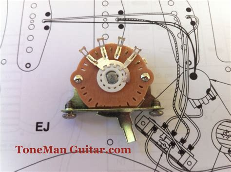 Oak Grigsby Way Switch For Fender Stratocaster