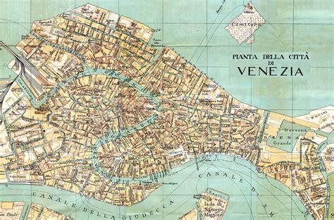 vintage map  venice