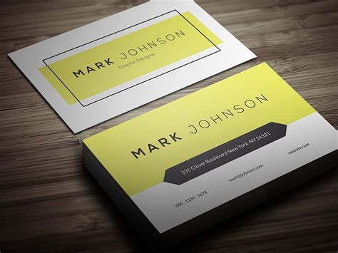 clean business card template free free clean individual business card template 2016 2