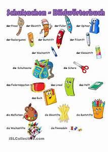 Bildworterbuch Schulsachen Tysk Pinterest