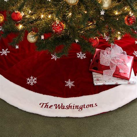 personalized tree skirt ideas 6313 winter embroidered tree skirt