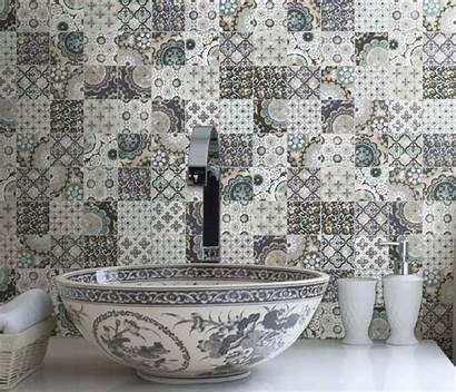 Tile Kitchen Country Bathroom Backsplash Artistic Patchwork