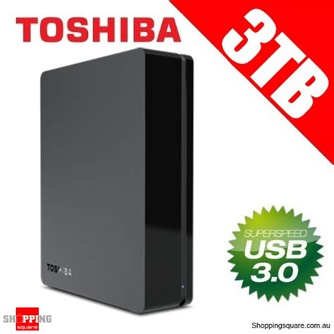 toshiba 3tb canvio 3 5 quot usb3 0 external hard drive hdd