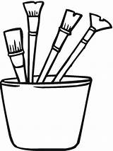 Coloring Tools Paint Pages Colouring Brush Tool Brushes Construction Sheet Drawing Clipart Printable Garden Clip Gardening Clipartmag Print Designs sketch template