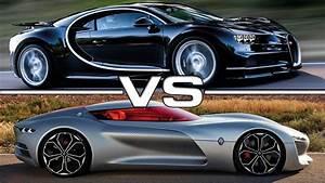 2017 Bugatti Chiron vs 2016 Renault Trezor Concept - YouTube
