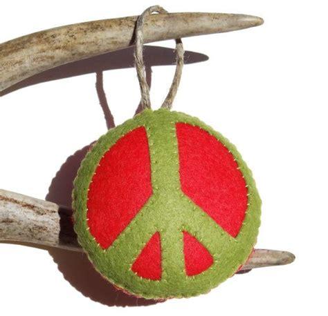 peace sign christmas ornament felt christmas ornament