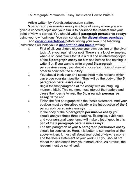 5 Paragraph Essay Exle On Quotes Quotesgram