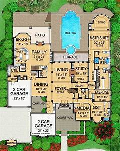 Plan, 36486tx, Luxury, Hill, Country, House, Plan