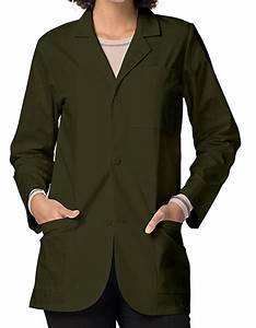 Adar Medical Uniforms 30 inch Three Pockets Olive Unisex ...