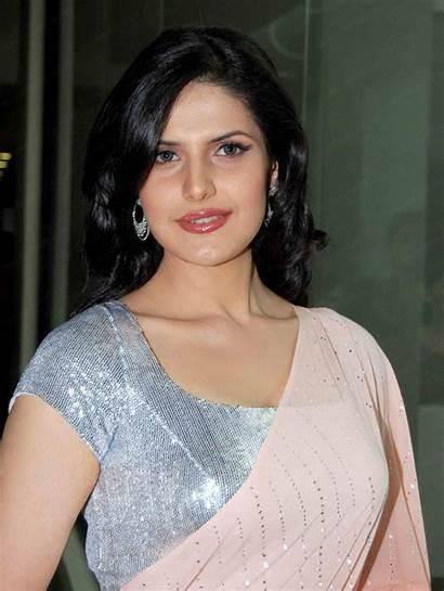 Khan Zarine Actress Bollywood Wallpapers Saree Indian