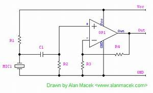 microphone output With microphone circuit