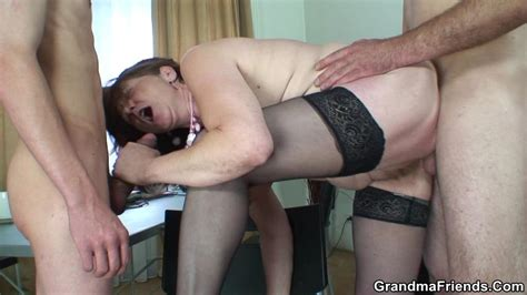 The Mature Employment Officer Meets Two Guys And They Take