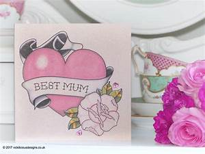 Handmade Mother's Day Card | Anchor and sunflower tattoo ...