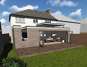 Single Storey Rear Extension On Semi Detached House In