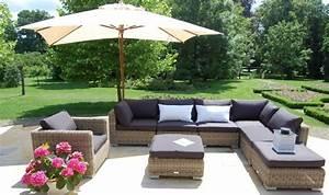 Salon De Jardin Bas : salon bas de jardin haut de gamme en r sine tress e 8 places ~ Voncanada.com Idées de Décoration