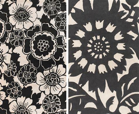 Black Floral Rugs
