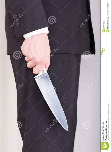 man  knife business suit royalty  stock