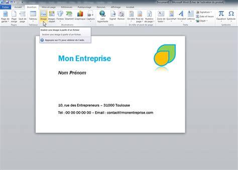 Word Modele by Comment Faire Facilement Une Carte De Visite Sur Word