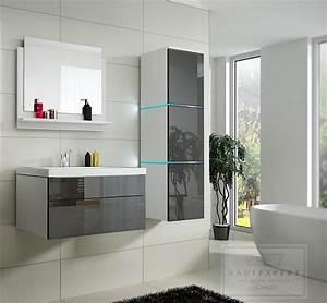 Badmöbel Weiß Hochglanz Modern : badm bel set grau hochglanz wei led lux beleuchtung modern design keramik ebay ~ Indierocktalk.com Haus und Dekorationen
