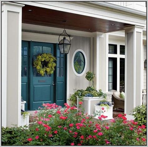 Best Color For Front Door With Beige Siding  House paint