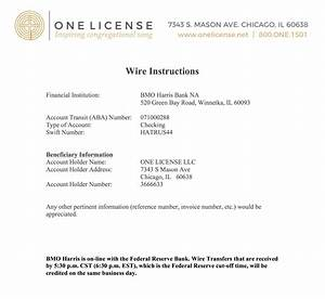Wire Transfer Instructions  U0026 International Payments  U2013 One