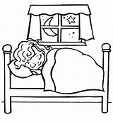 Bedtime Coloring Pages Bed Bunk Getdrawings sketch template