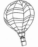 Balloon Coloring Air Printable Horizontal sketch template