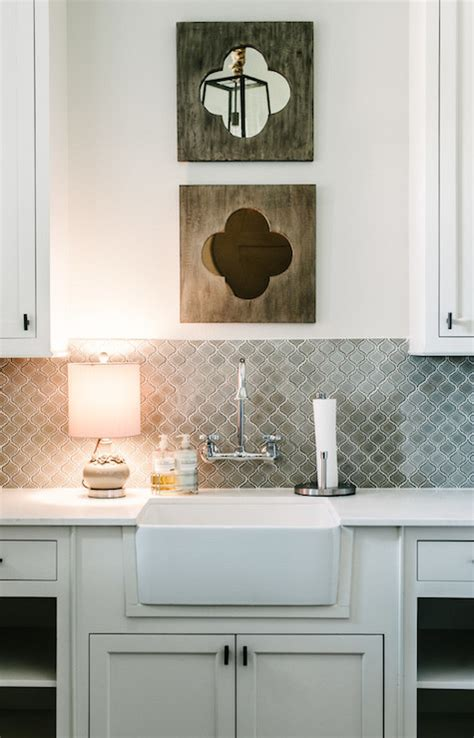 Gray Tiled Backsplash Moorish Shaped Tile Quatrefoil. Pop Up Electrical Outlets For Kitchen Islands. Rustic Bronze Chandelier. Patco Construction. Hammered Copper Pendant Light. Cozy Sectional Sofas. Gray Hexagon Tile. Apartment Size Sofa. Reclaimed Wood Sofa Table