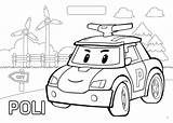 Poli Robocar Coloring Pages Drawing Colouring Amber Roy Police Friendly Ambulance Getdrawings Drawings sketch template